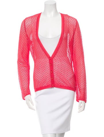 Missoni V-Neck Knit Cardigan None