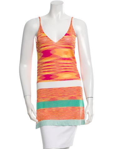 Missoni Sleeveless Coverup Top None