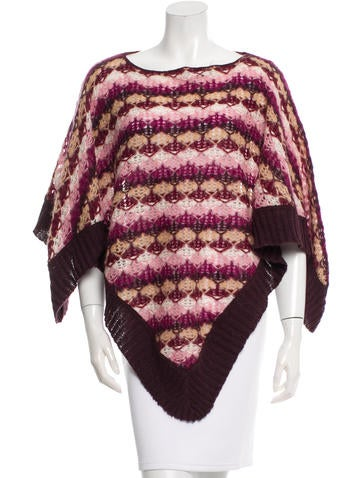 Missoni Pattern Knit Poncho None