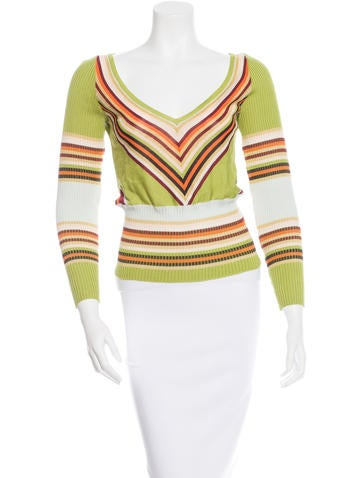 Missoni Striped Rib Knit Sweater None