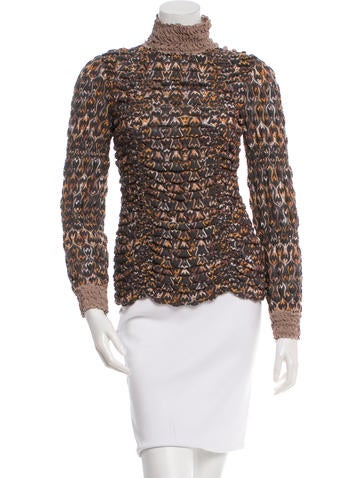 Missoni Patterned Turtleneck Top None