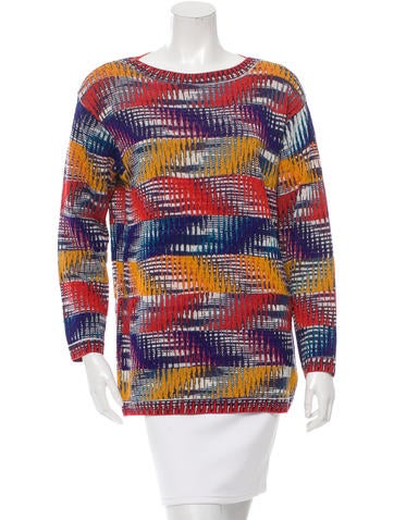 Missoni Patterned Long Sleeve Sweater None