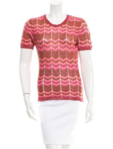 Missoni Patterned Knit Top None