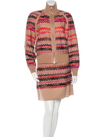Missoni Knit Skirt Suit None