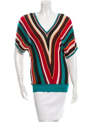Missoni Striped Silk Top None