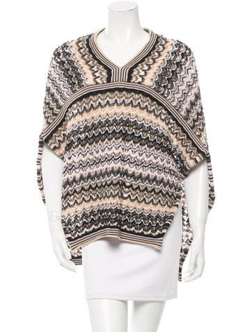 Missoni Open Knit Wool Poncho None