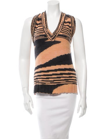 Missoni Sleeveless Cashmere Top None