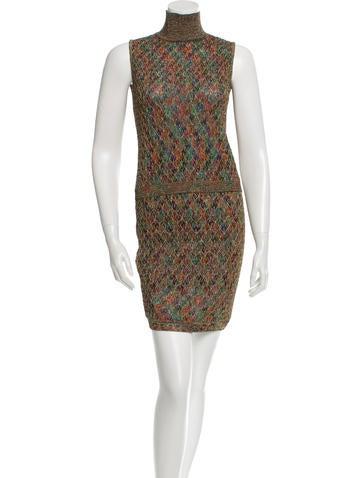 Missoni Metallic Patterned Skirt Set None