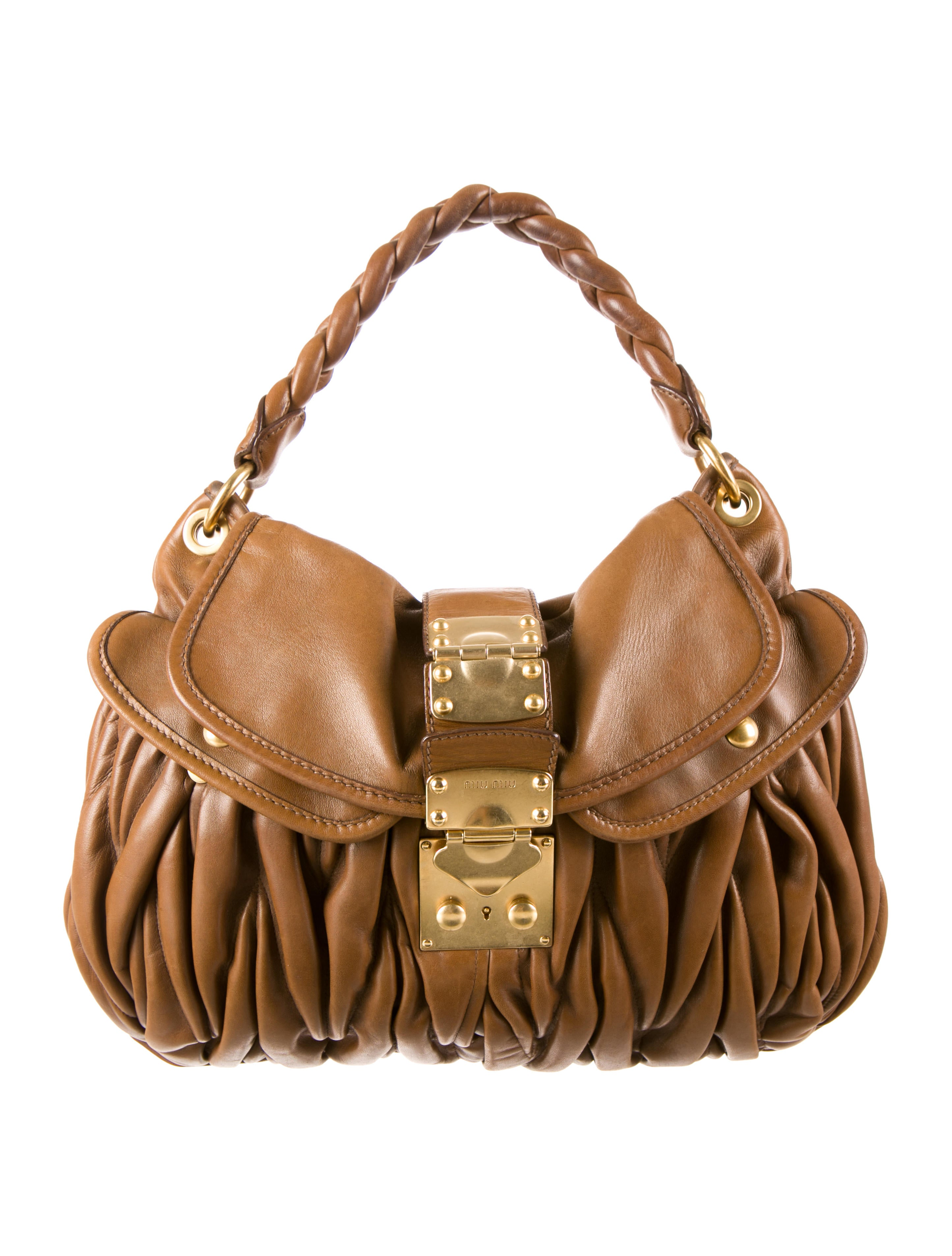 Miu Miu Coffer Handle Bag Handbags Miu28695 The Realreal