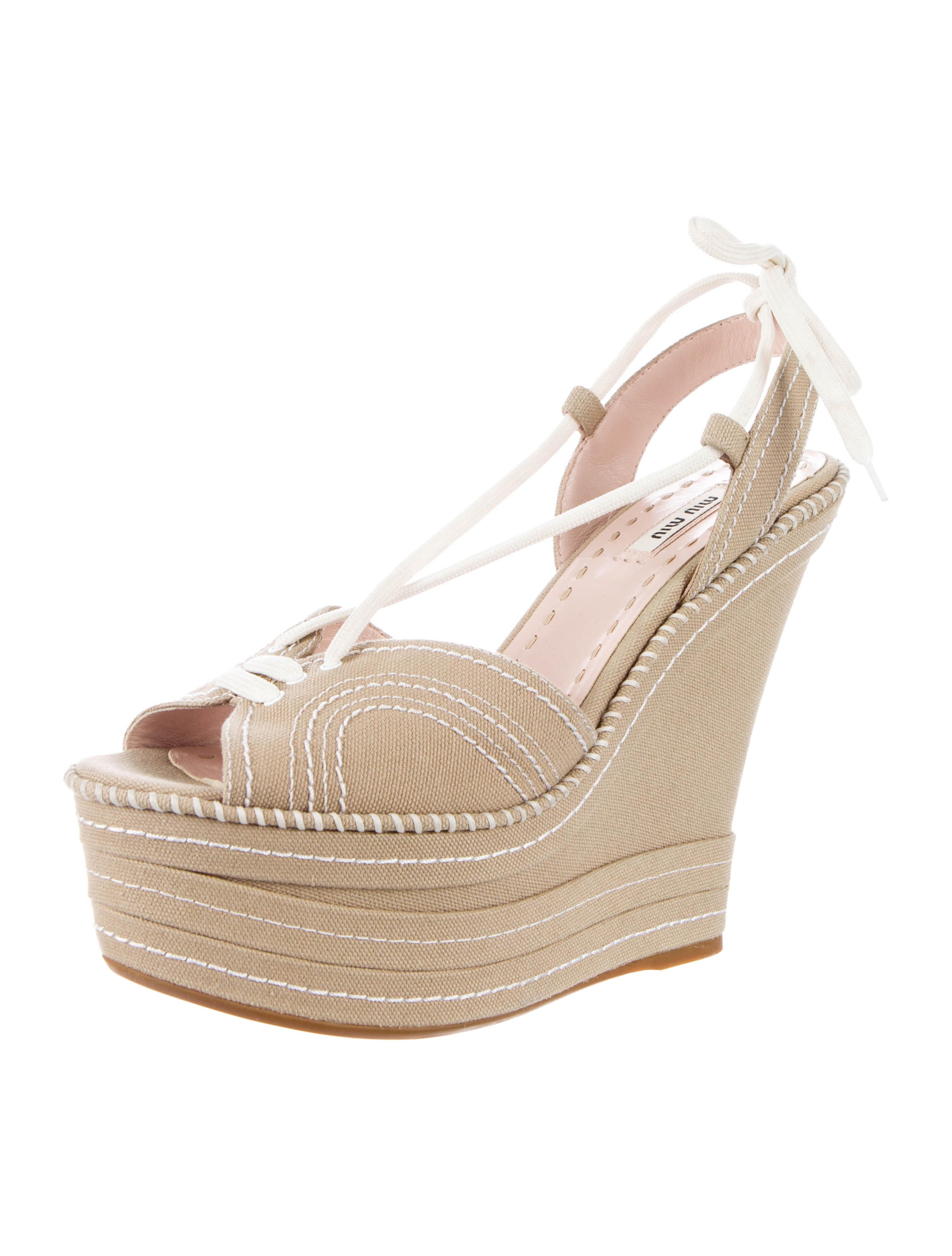 miu miu platform sandals shoes miu30622 the realreal