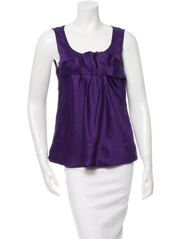 Miu Miu Sleeveless Silk Top None