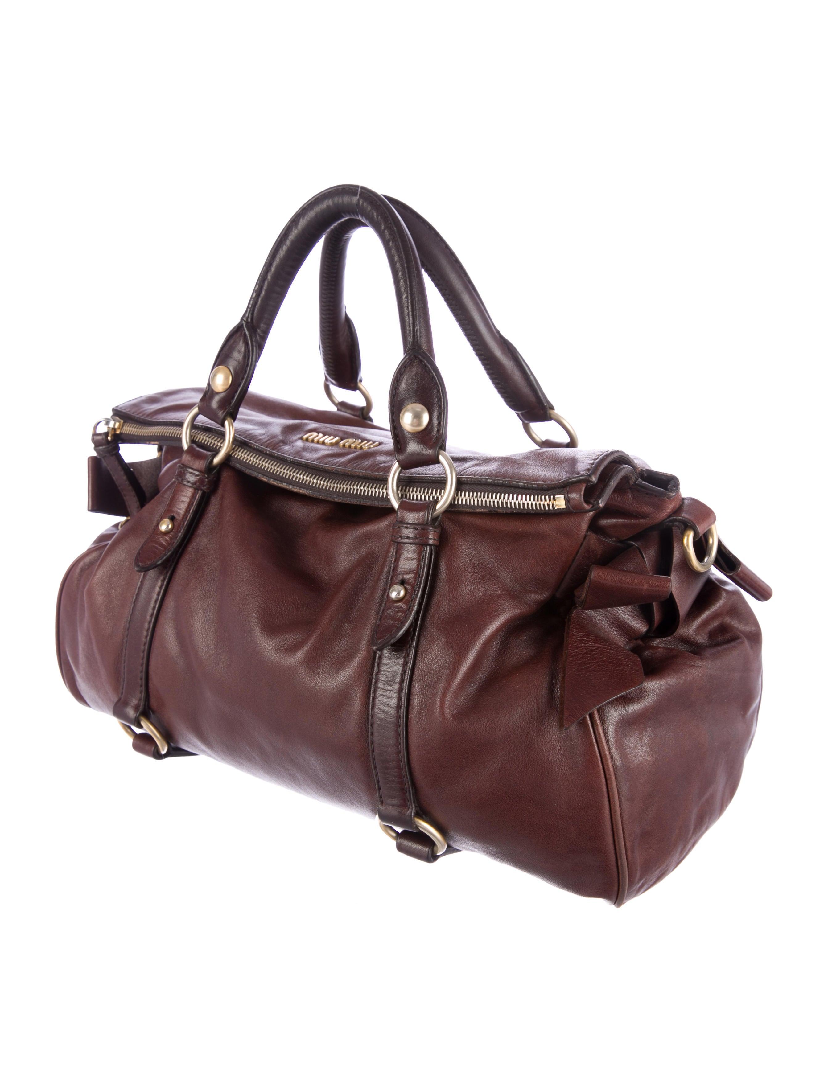 Miu Miu Leather Monk Satchel - Handbags - MIU34857 | The RealReal