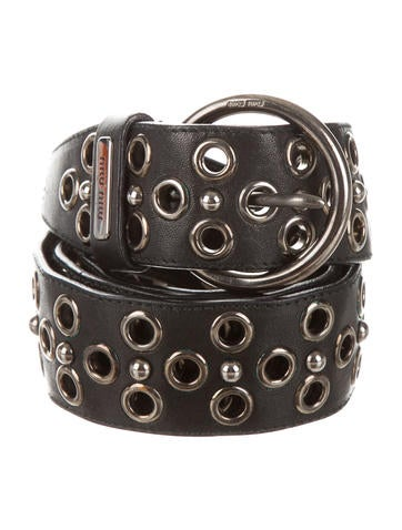 Miu Miu Embellished Buckled Belt
