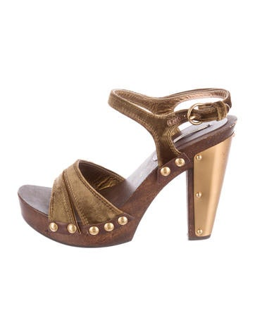 Miu Miu Wooden Platform Sandals None