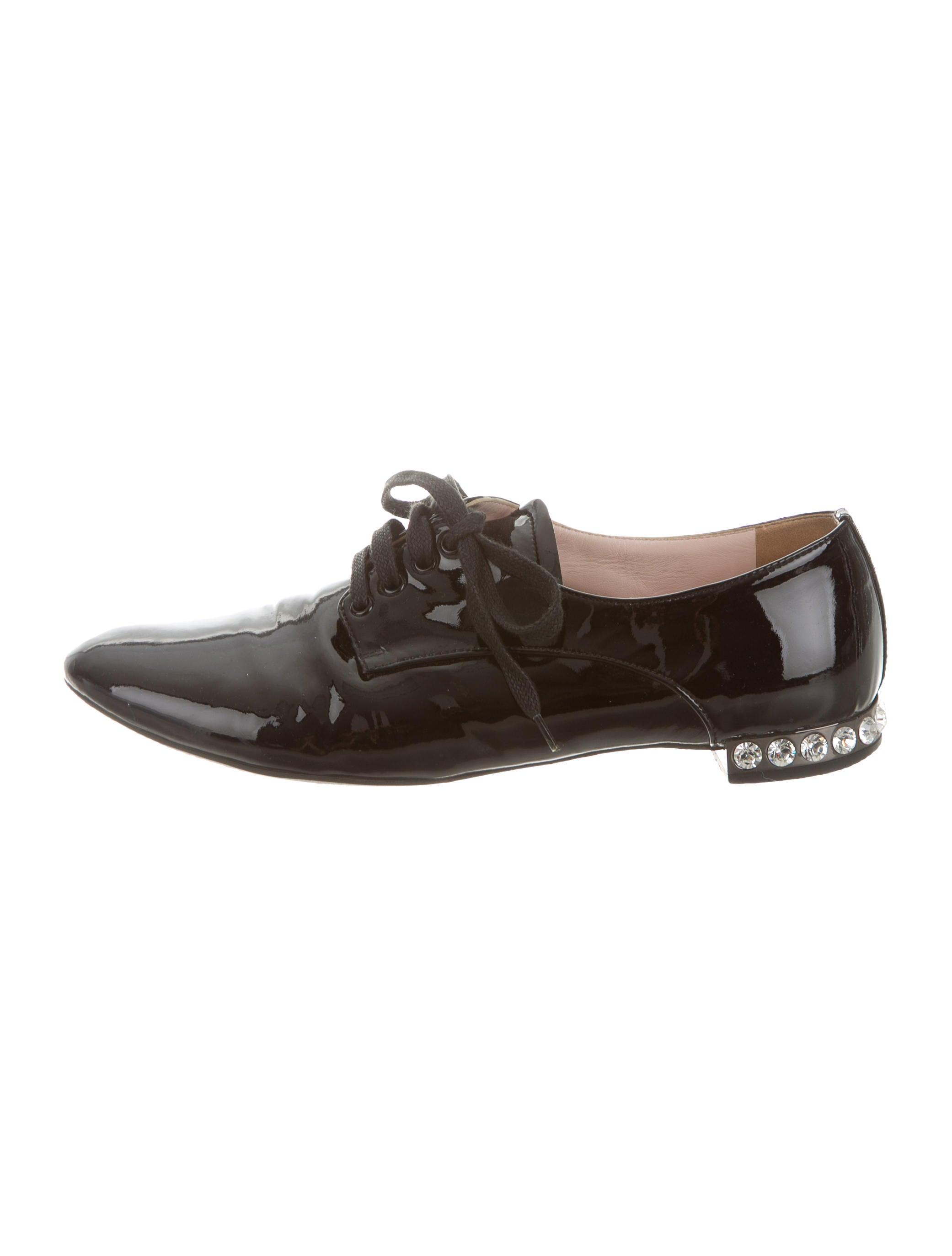 Miu Miu Patent Leather Oxfords - Shoes - MIU39539 | The RealReal