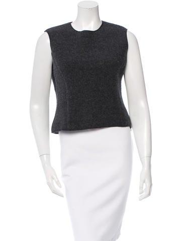 Miu Miu Sleeveless Wool Top None