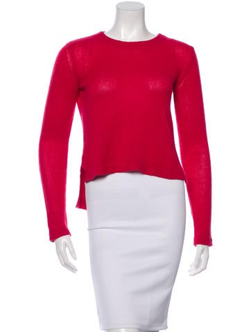 Miu Miu Long Sleeve Cashmere Top None