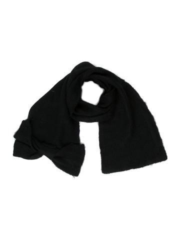 Miu Miu Bow Rib Knit Scarf None