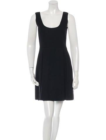 Miu Miu Virgin Wool Mini Dress None