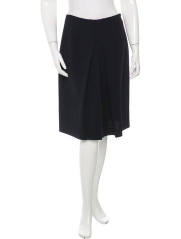 Miu Miu Wool Knee-Length Skirt None