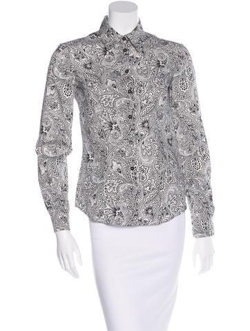 Miu Miu Paisley Button Up Shirt None