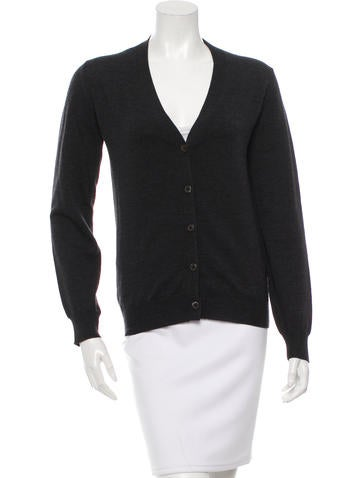 Miu Miu Virgin Wool V-Neck Cardigan None