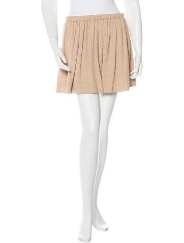 Miu Miu Matelassé Mini Skirt None