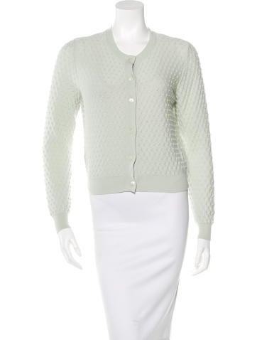 Miu Miu Knit Button-Up Cardigan None