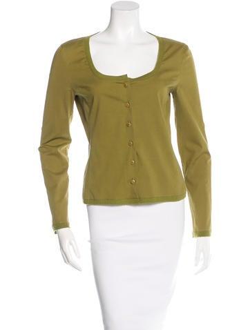 Miu Miu Long Sleeve Button-Up Top None