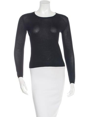 Miu Miu Long Sleeve Knit Sweater None