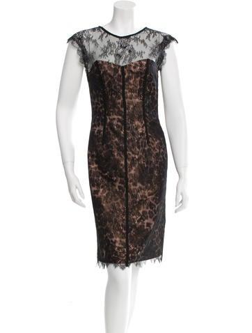 Monique Lhuillier Lace Sleevless Dress None