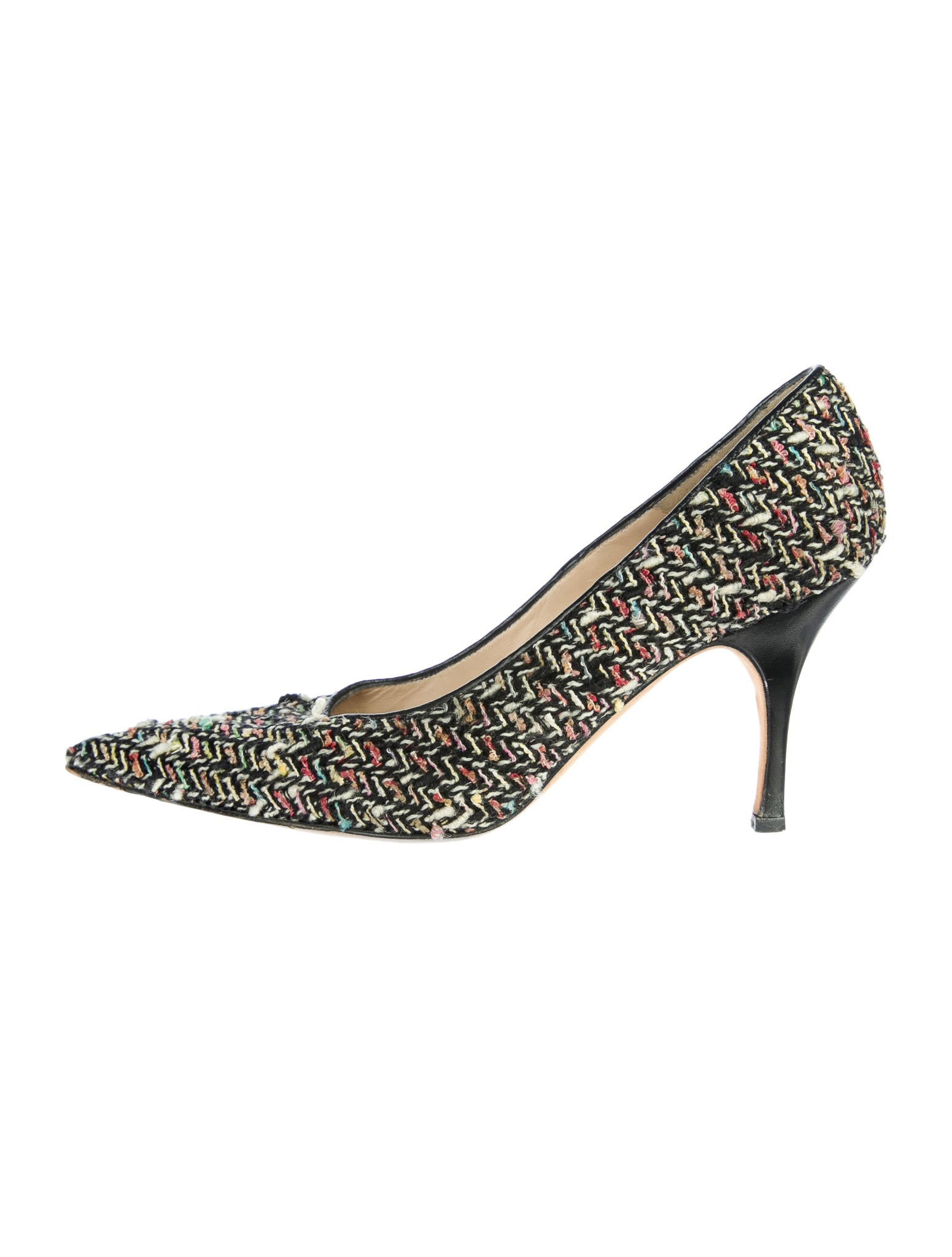 Manolo Blahnik Tweed Pumps - Shoes - MOO29197 | The RealReal