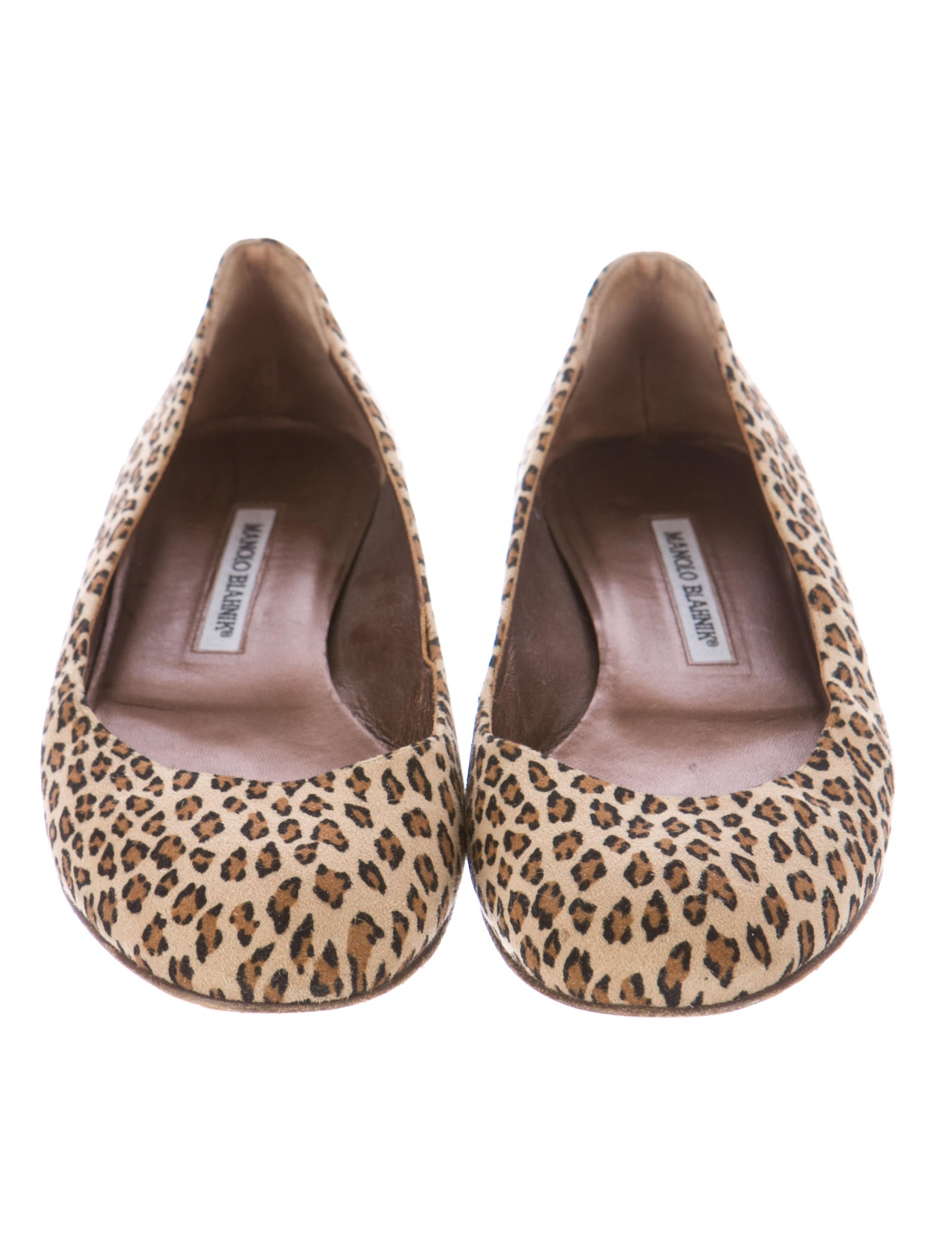 manolo blahnik leopard flats