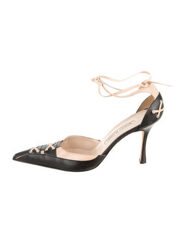Manolo Blahnik Ankle-Strap Pumps