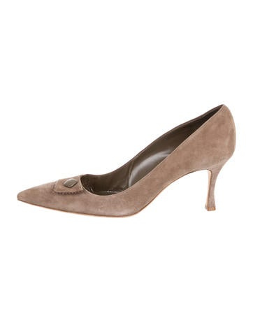 Manolo Blahnik Button-Accented Pumps