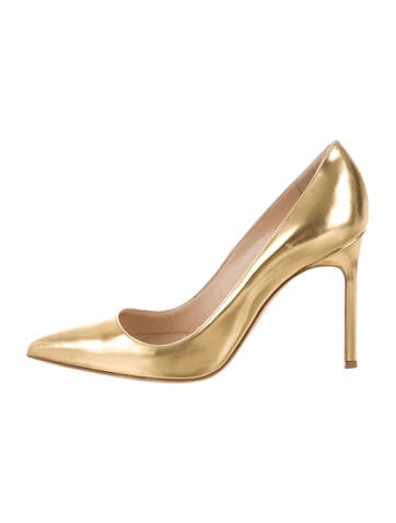 Manolo Blahnik Metallic BB Pointed-Toe Pumps