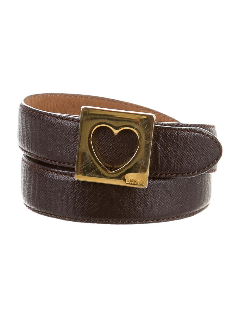 moschino brown leather belt accessories mos23737 the