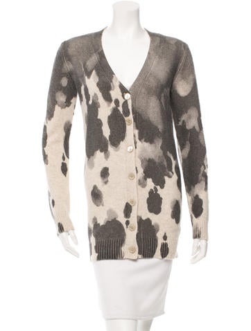 Moschino Patterned V-Neck Cardigan w/ Tags None