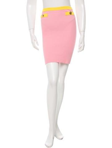 Moschino Rib Knit Mini Skirt None