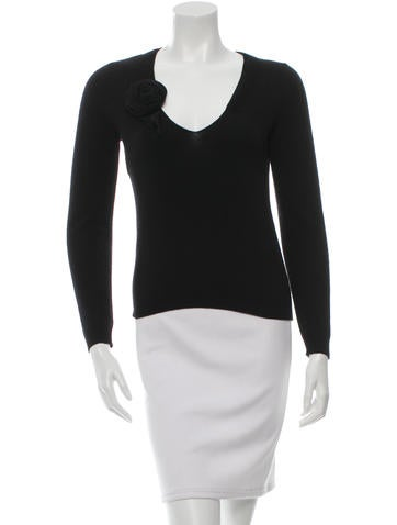 Moschino Wool-Blend V-Neck Sweater None