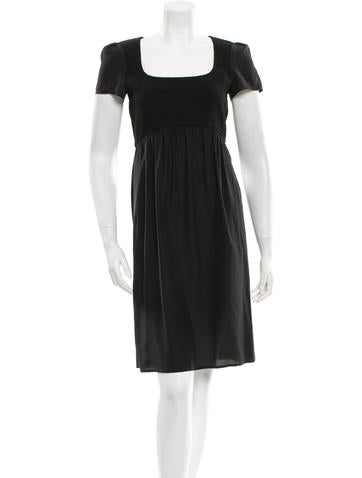 Narciso Rodriguez Wool Short Sleeve Dress None