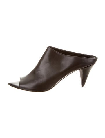 Narciso Rodriguez Leather Mila Mules None
