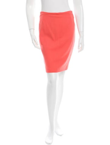 Narciso Rodriguez Coral Pencil Skirt None