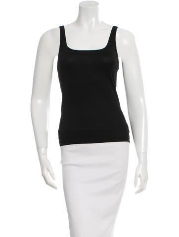 Narciso Rodriguez Sleeveless Rib Knit Top None