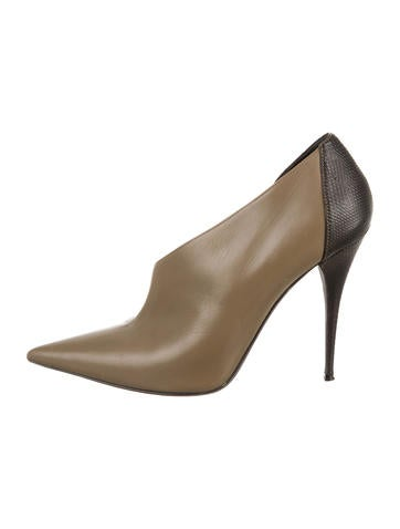 Narciso Rodriguez Karung Pointed-Toe Booties None