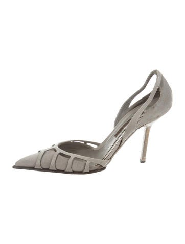 Narciso Rodriguez Suede d'Orsay Pumps None