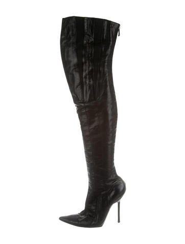 Narciso Rodriguez Leather Over-The-Knee Boots None