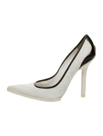 Narciso Rodriguez Suede Pointed-Toe Pumps None