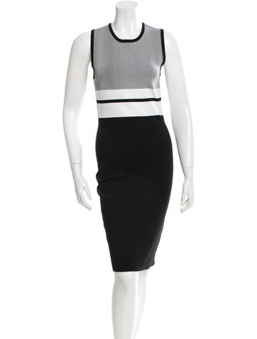 Narciso Rodriguez Sleeveless Stretch Knit Dress None