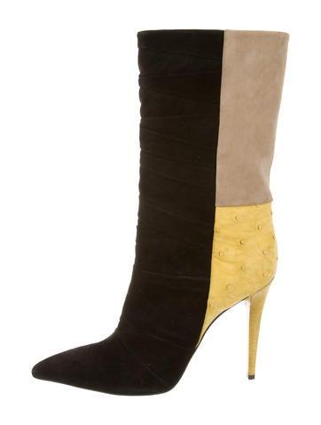 Narciso Rodriguez Colorblock Mid-Calf Boots None